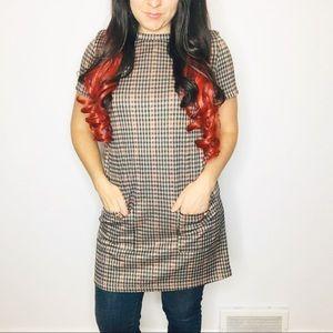 Zara Rrafaluc Plaid Dress Womens Size Medium Short